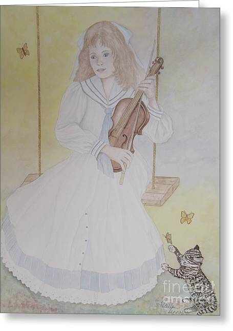 Victoria's Violin Greeting Card