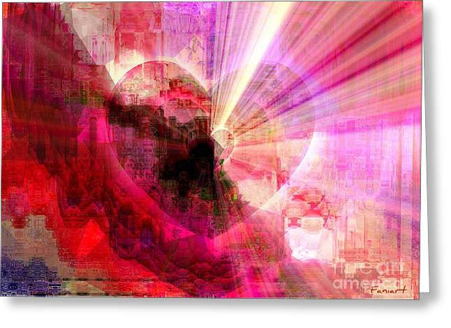 Greeting Card featuring the digital art Victorious Heart by Fania Simon