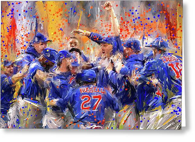 Victory At Last - Cubs 2016 World Series Champions Greeting Card