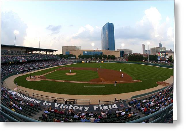 Victory Field Greeting Card by Rob Banayote