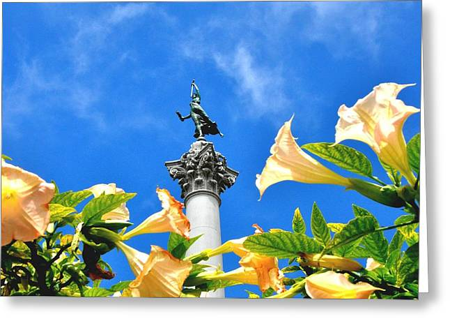 Victory Figurine In Union Square San Francisco Greeting Card