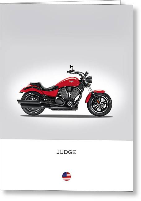 Victory Judge Greeting Card by Mark Rogan