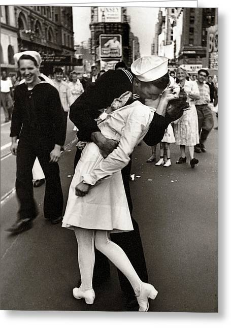 Victory Over Japan Times Square Kiss  1945 Greeting Card
