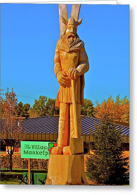 Greeting Card featuring the photograph Vidar The Viking by Randy Rosenberger
