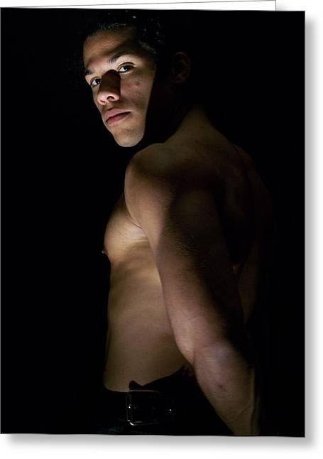 Vidax Light Shadow And Muscle Greeting Card by Jake Hartz