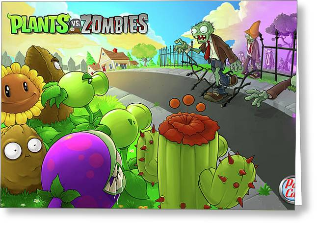 Video Games Plants Vs Zombies                  Greeting Card