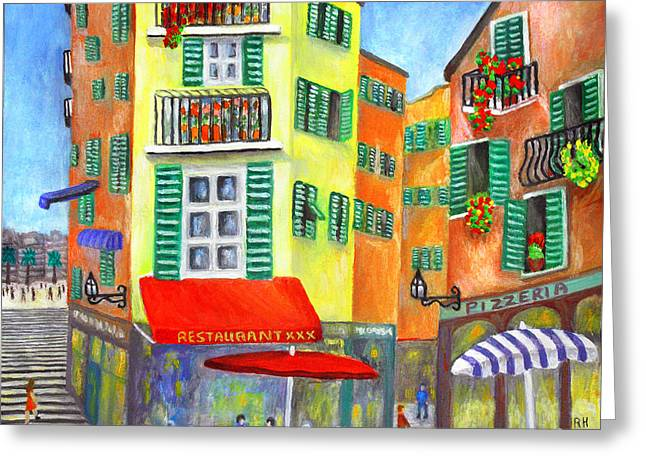 Provence Village Greeting Cards - Vieille Ville - Nice Greeting Card by Ronald Haber