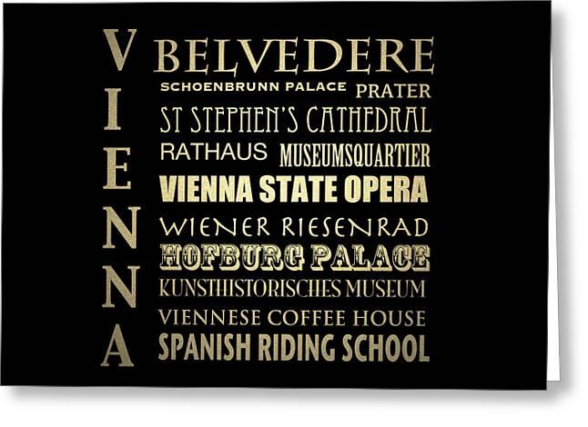 Vienna Austria Famous Landmarks Greeting Card