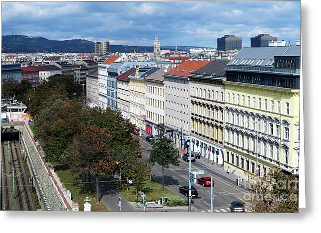 Vienna Beltway Greeting Card by Christian Slanec