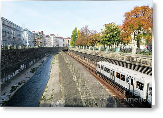 Vienna Canal Greeting Card by Christian Slanec