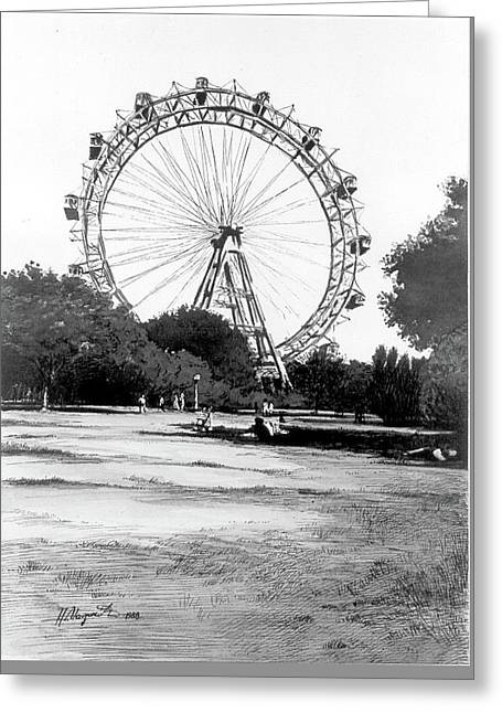 Viennese Giant Wheel Greeting Card