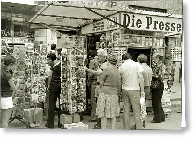 Viennese Newspaper Stand Greeting Card