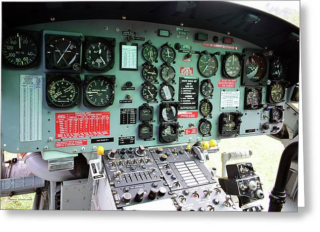 Vietnam Era Helicopter 049 Control Panel 02 Greeting Card