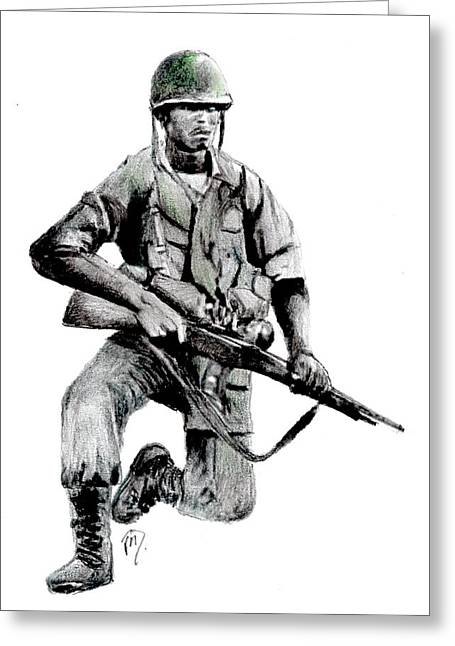 Vietnam Infantry Man Greeting Card