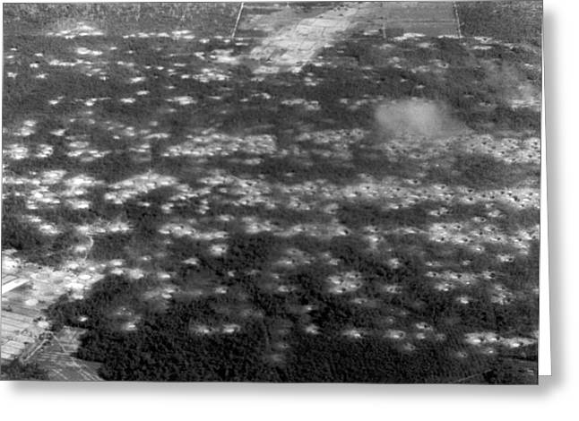 Vietnam moonscape Greeting Card by Underwood Archives