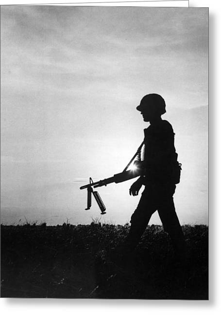 Vietnam Training Exercise Greeting Card by Underwood Archives