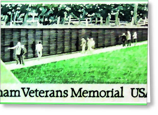 Vietnam Veterans Memorial Greeting Card by Lanjee Chee