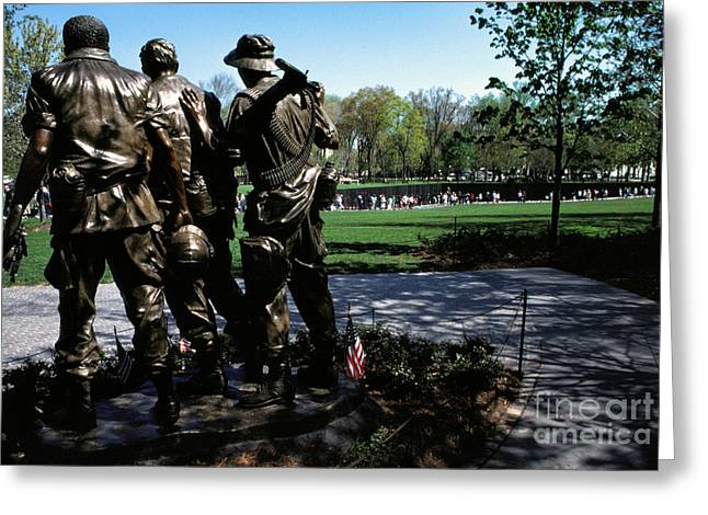 Vietnam Veterans Memorial Memorial Day Greeting Card by Thomas R Fletcher