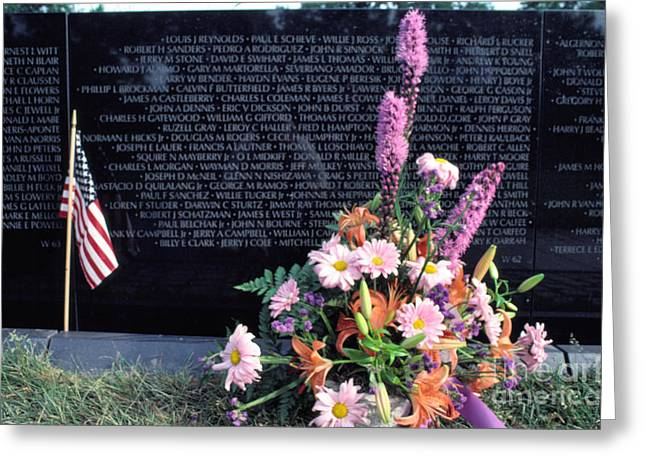 Vietnam Veterans Memorial On Memorial Day Greeting Card by Thomas R Fletcher