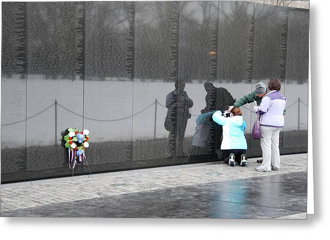 Vietnam Wall Family Greeting Card
