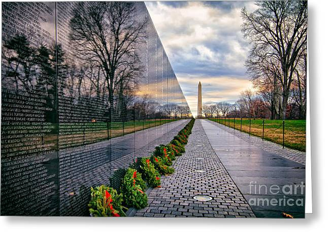 Vietnam War Memorial, Washington, Dc, Usa Greeting Card