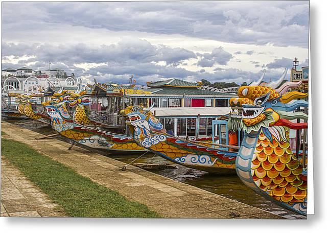 Vietnamese Dragon Boats Greeting Card