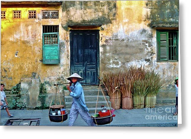 Greeting Card featuring the photograph Vietnamese Street Food Sound by Silva Wischeropp
