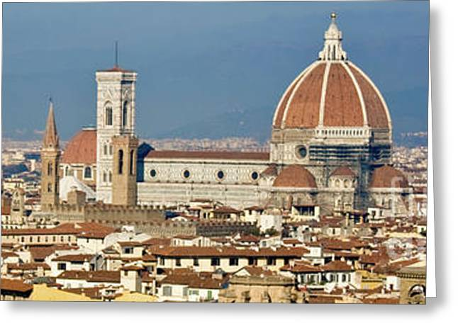 View Above Florence Greeting Card by Ezeepics