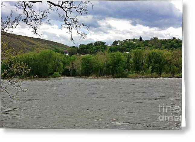 View Across Potomac River Greeting Card by Ben Schumin