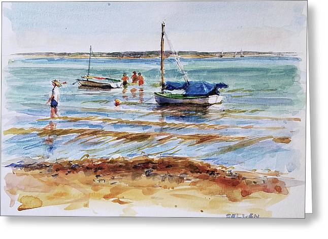 View Across Provincetown Harbor Greeting Card by Peter Salwen