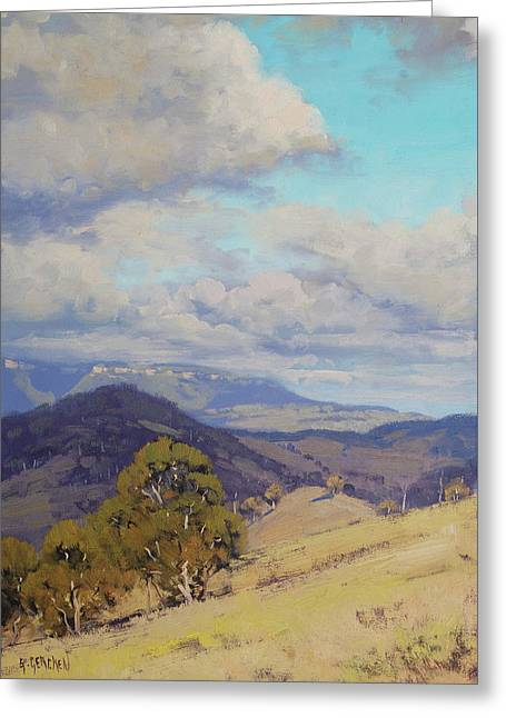 View Across The Kanimbla Valley Australia Greeting Card