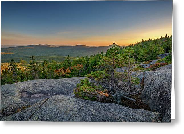 View At Sunset From Tumbledown Mountain Greeting Card