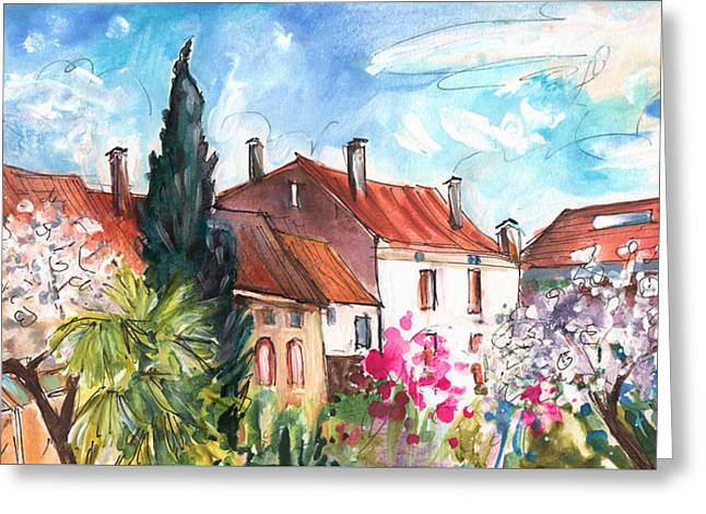 View From The Trefle Window In Albi Greeting Card by Miki De Goodaboom