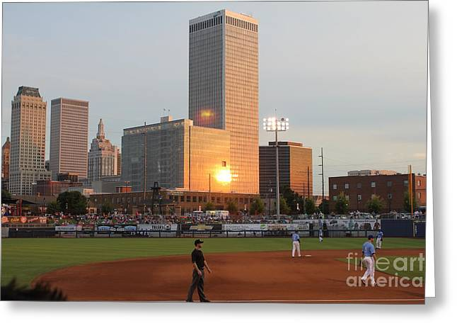 View From 3rd Base Greeting Card