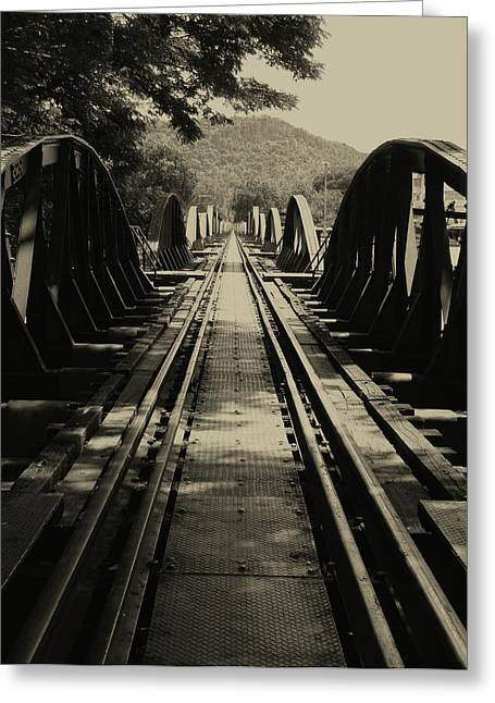 View From A Bridge - River Kwai Greeting Card