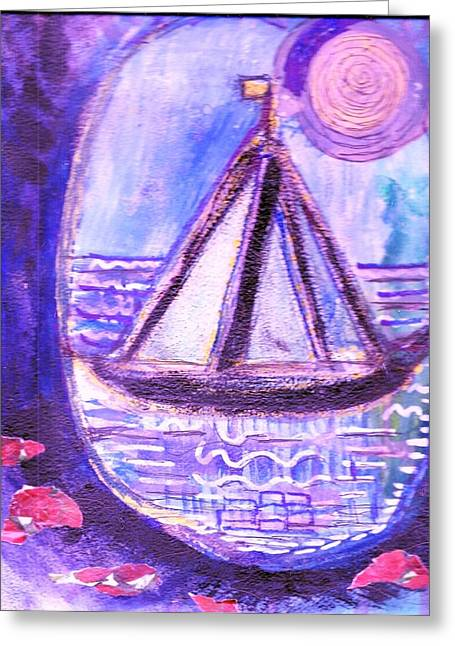 Cavern Mixed Media Greeting Cards - View from a Cavern in the Sea Greeting Card by Anne-Elizabeth Whiteway