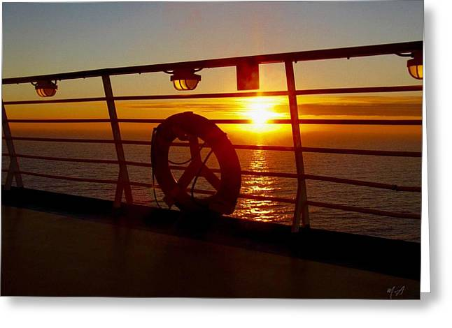 View From A Cruise Ship Greeting Card by Mark Taylor