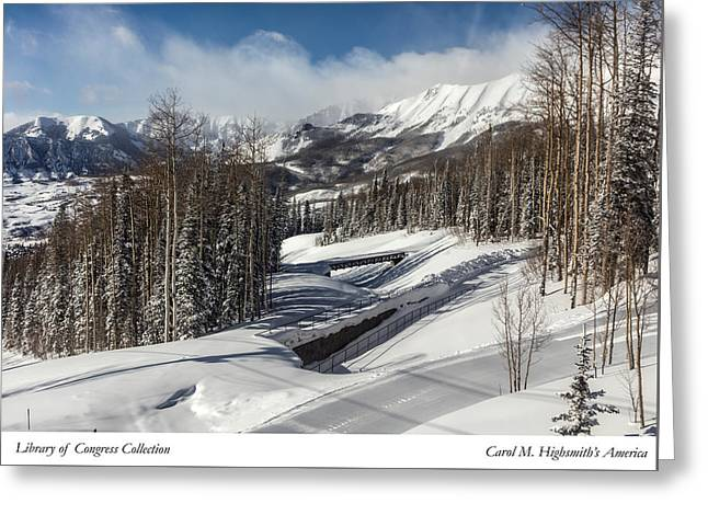 Greeting Card featuring the photograph View From A Mountain Above Telluride In Colorado by Carol M Highsmith