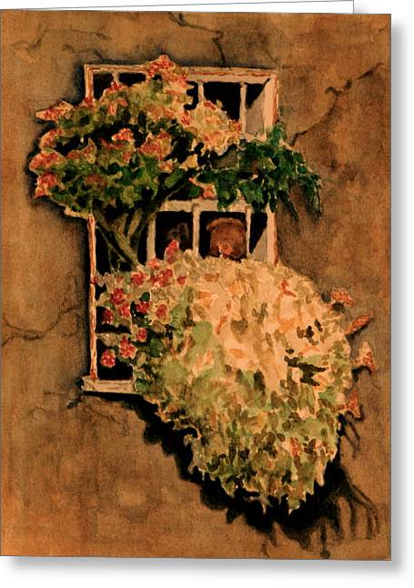 View From A Roman Window Greeting Card by Dan Earle