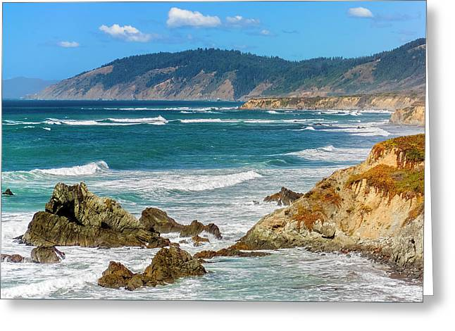 View From Abalone Point Greeting Card