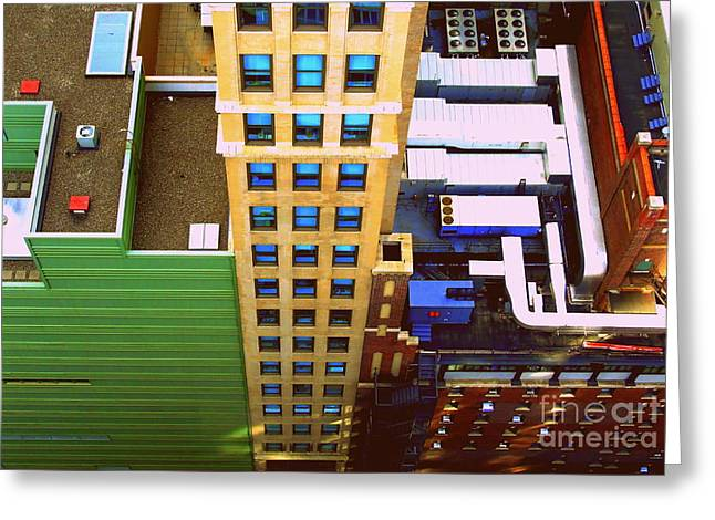View From Above 41st Greeting Card by Susan Lafleur