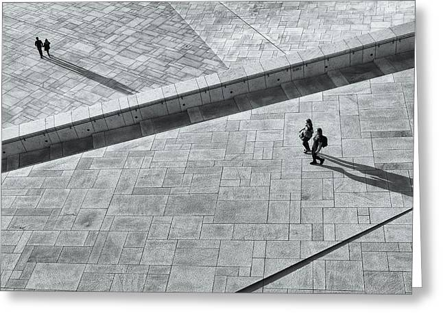 View From Above - Oslo Opera House Greeting Card