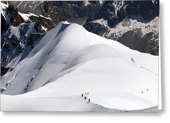 View From Aiguille Du Midi Greeting Card