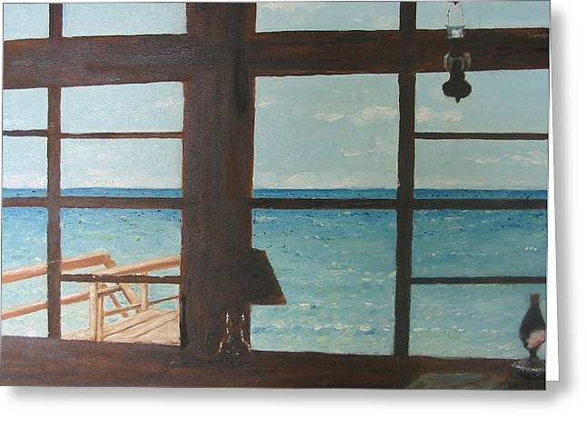 View From Blue House II Greeting Card by John Terry