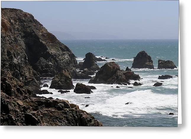 View From Bodega Head In Bodega Bay Ca - 4 Greeting Card