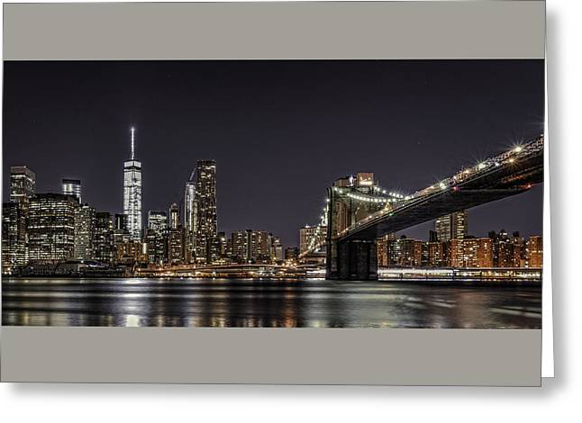 View From Brooklyn Bridge Park Greeting Card