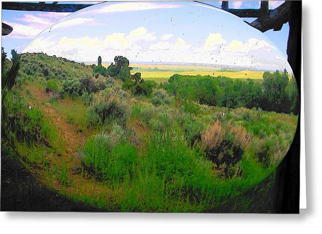 View From Cabin Window Greeting Card by Lenore Senior