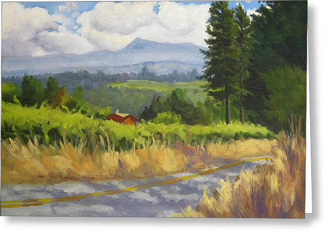 View From Cherry Ridge Greeting Card by Char Wood