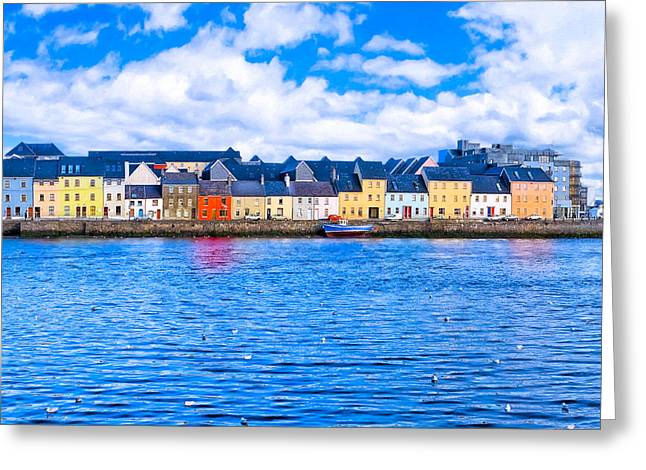 Greeting Card featuring the photograph View From Claddagh Quay - Galway by Mark E Tisdale