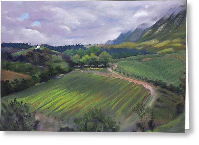 View From Creation Winery Greeting Card
